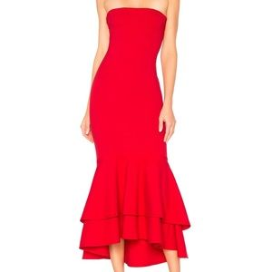 Lovers + Friends Red Dillon Midi Dress